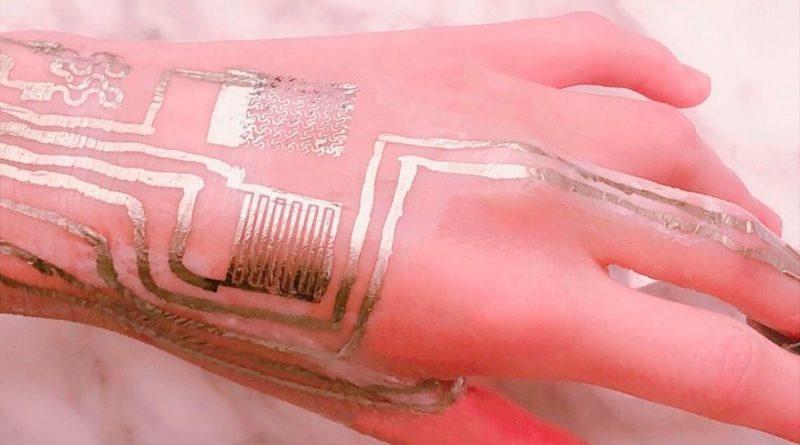 Logran imprimir circuitos directamente en la piel