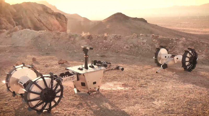 DuAxel, el robot de la NASA que hará rápel descolgándose con una cuerda por los cráteres de Marte