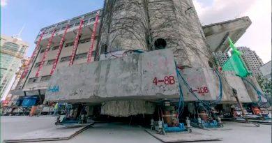 Impresionante traslado de un edificio histórico de 7,600 toneladas en China