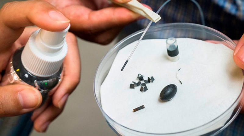 Diseñan un aerosol que convierte materiales inanimados en máquinas móviles a escala de insectos