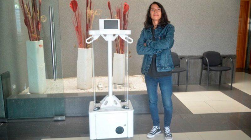 Estudiante mexicano crea dispositivo desinfectante equipado con luz UV y Ozono