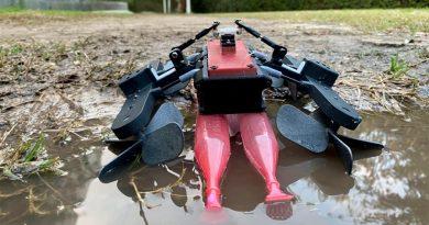 Este robot anfibio está inspirado en el lagarto que corre sobre el agua