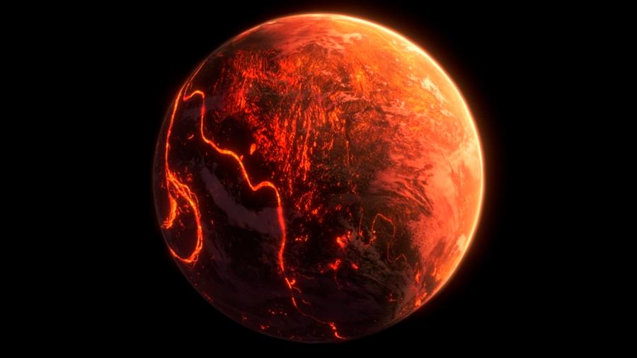 Un océano de lava, viento supersónico y atmósfera de rocas