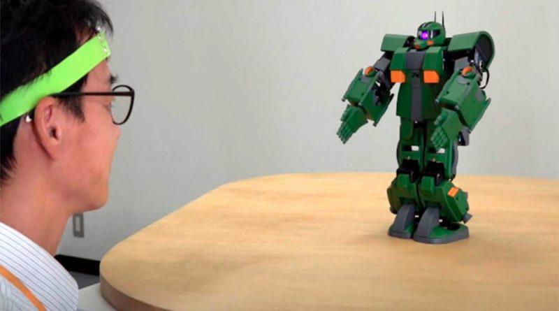 En Japón ya pueden controlar con la mente a un pequeño robot Gundam
