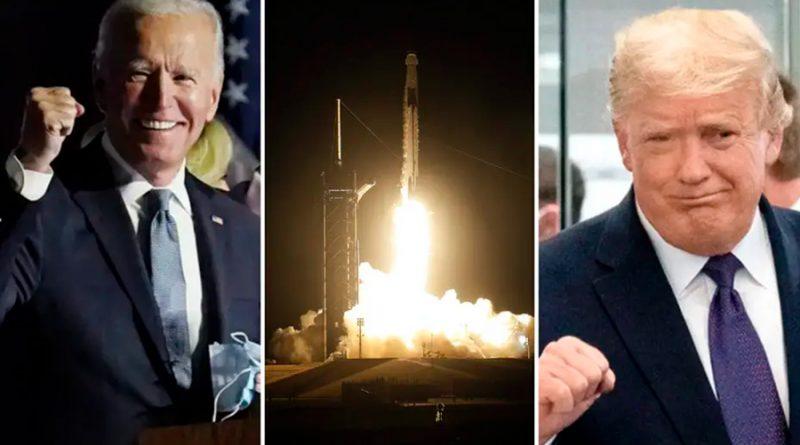 """""""Prueba el poder de la ciencia"""": el pulso político entre Biden y Trump por SpaceX"""