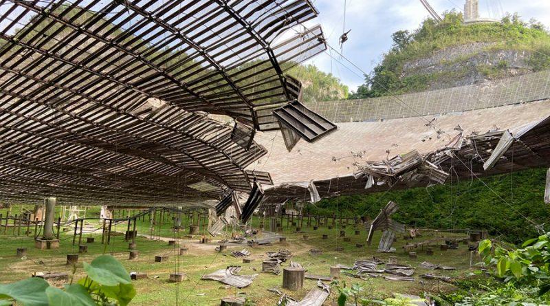 El dañado radiotelescopio de Arecibo será desmantelado