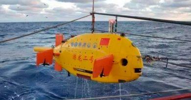Sumergible chino desciende 10 mil metros en el océano Pacífico