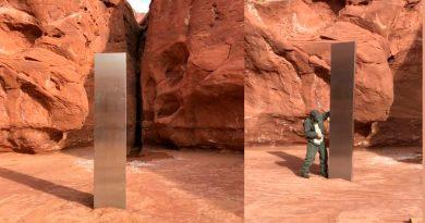 Las autoridades de Utah hallan un monolito metálico en un cañón inaccesible, y las especulaciones se disparan