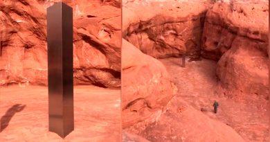 """Desaparece el misterioso """"monolito"""" de metal hallado en un desierto de EU"""
