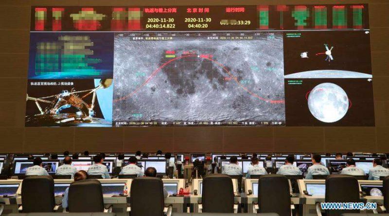 La sonda china Chang'e 5 llega con éxito a la Luna para traer muestras