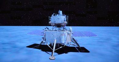 La nave china Chang'e 5 recolecta muestras lunares horas después de aterrizar