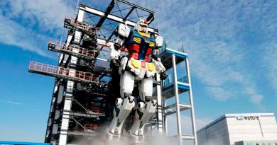 Presentan en Japón a Gundam, robot de 18 metros con movimiento propio