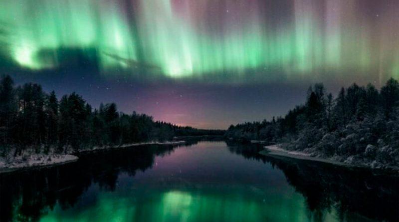 Con una cámara en un globo meteorológico logran fotografiar la aurora boreal desde el espacio