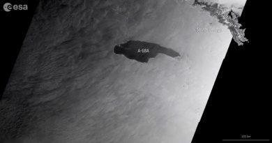 Ahora sí el iceberg gigante A-68A se acerca peligrosamente a Georgia del Sur