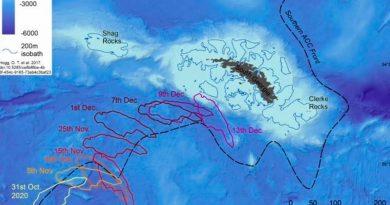 El iceberg gigante A68a devastará el tesoro marino de Georgia del Sur