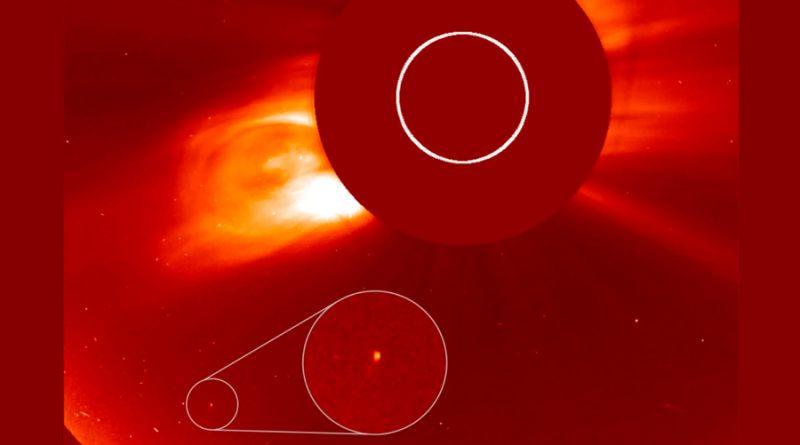 Un cometa recién descubierto fue visto durante el eclipse solar total