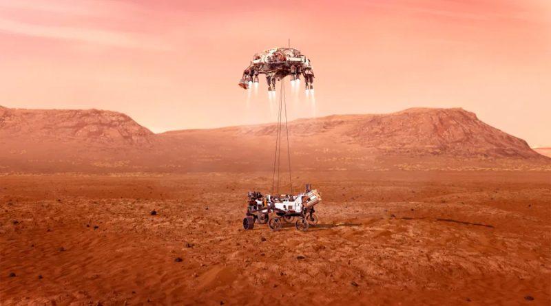 Una animación muestra cómo será el aterrizaje en Marte del robot Perseverance el 18 de febrero próximo