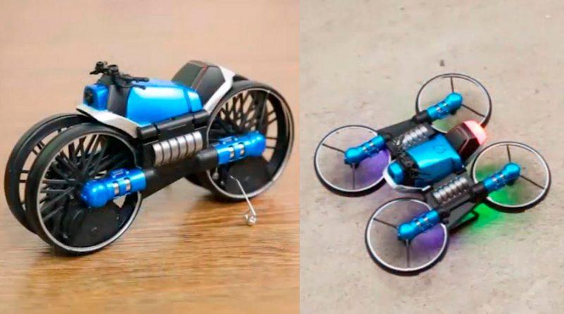 La moto que se transforma en dron