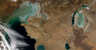 El lago más grande del mundo en camino de la desecación