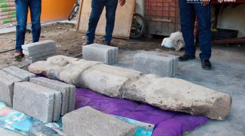 Hallan singular escultura femenina de dos metros en la huasteca veracruzana