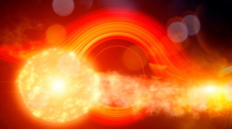 Investigadores descubren por qué en una galaxia aparece un destello de luz cada 114 días