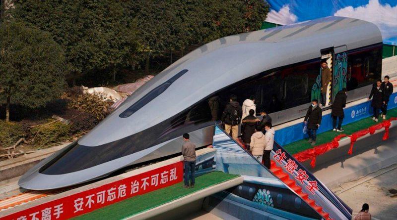 China presume de un nuevo tren 'maglev' que sería capaz de alcanzar los 800 km/h