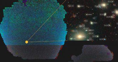 Un nuevo mapa 2D del universo es gigantesco y tiene alrededor de 2 mil millones de objetos