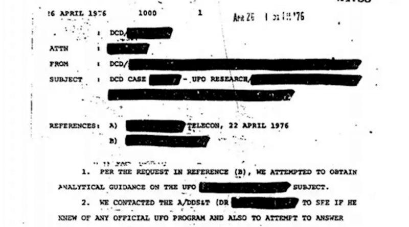 Un archivo de 2,780 páginas de la CIA disponibles para los amantes de los OVNIS