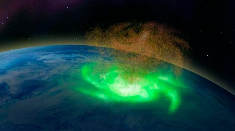 Científicos descubren el primer huracán espacial en la atmósfera superior de la Tierra