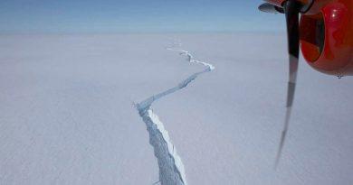 Iceberg del tamaño de Londres se desprende en la Antártida