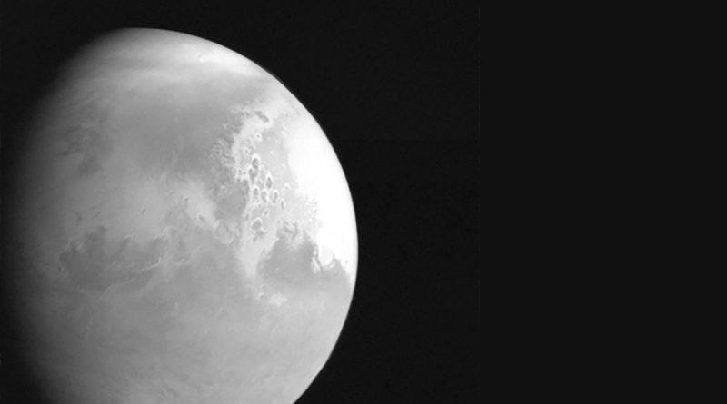 Sonda china envía su primer foto de Marte