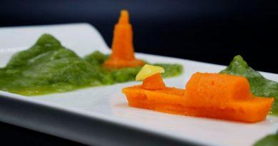 Comida impresa en 3D con puré para avanzar en la gastronomía digital