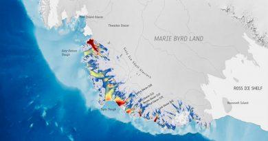 Los glaciares antárticos aceleran en su carrera hacia el océano