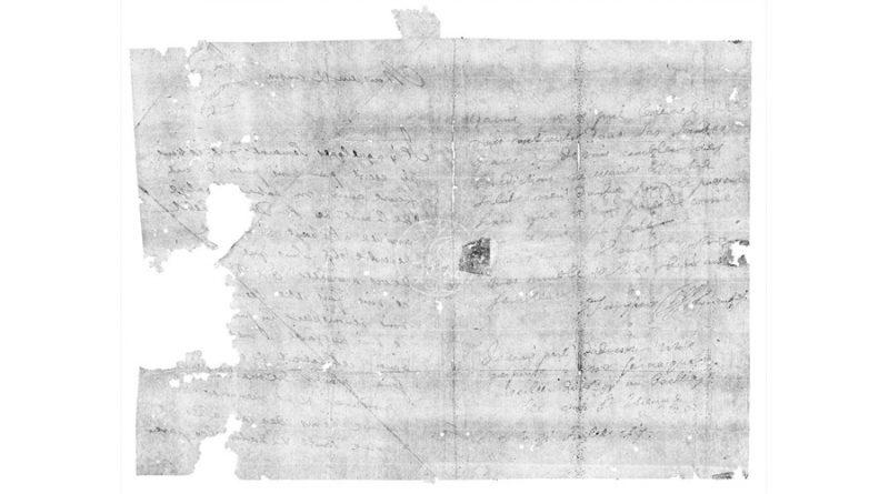 Un escáner dental deja leer una carta secreta de 300 años sin abrirla