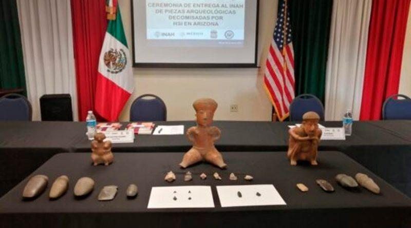 Regresan a México 277 piezas arqueológicas