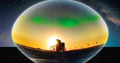 Detectado en el polo sur un potente antineutrino de origen extraterrestre