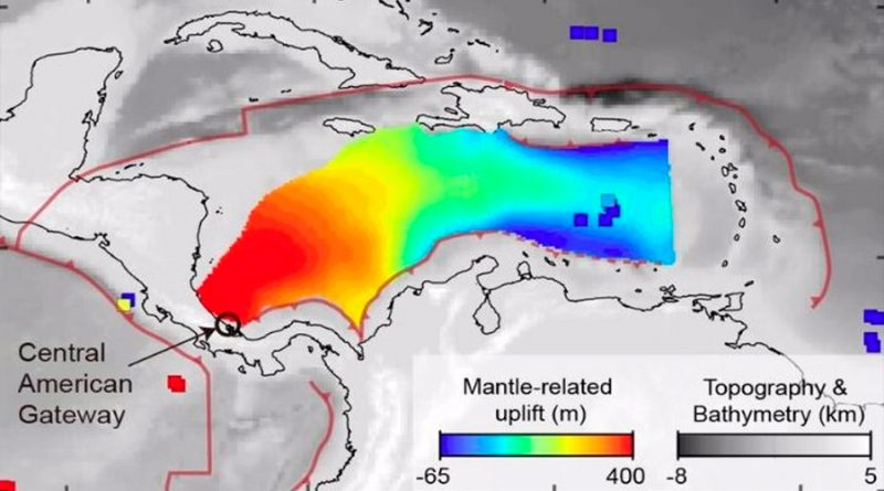 Un 'río de rocas' bajo el Caribe mantiene América Central emergida