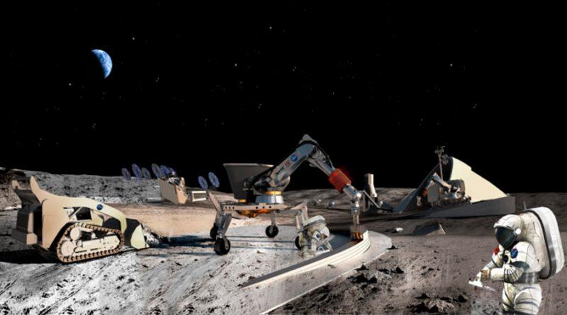 Primer paso para una aldea fabricada con polvo lunar