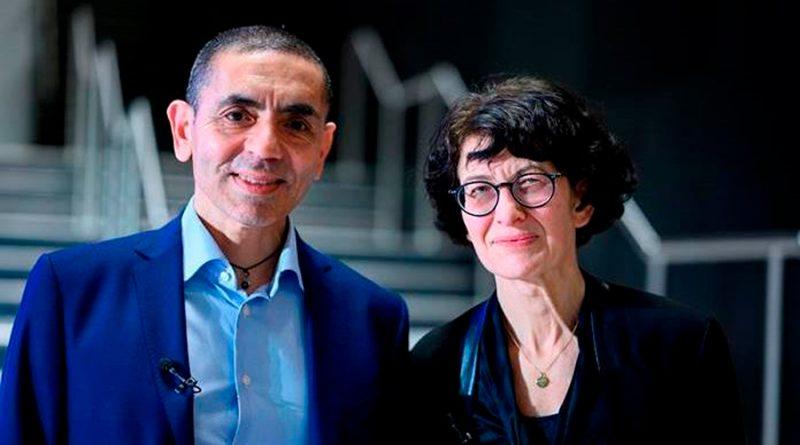 Los fundadores de BioNTech reciben premio por su contribución al combate de la pandemia