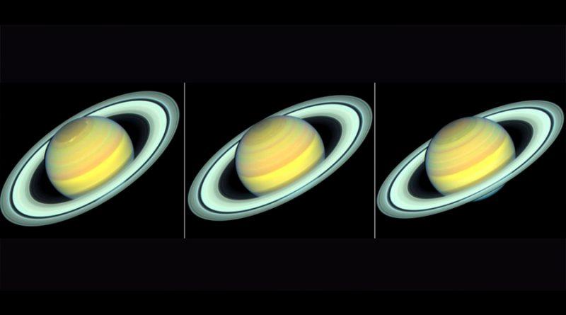 Hubble observa cambios estacionales en Saturno