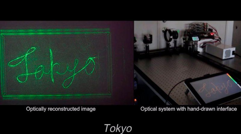 'Garabatos de luz' en tiempo real anticipan el holograma en casa