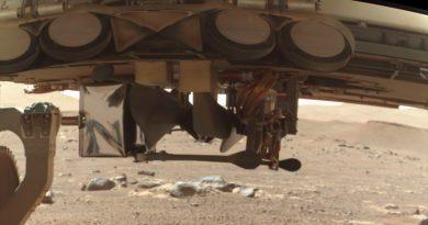 Primera imagen del helicóptero Ingenuity en Marte