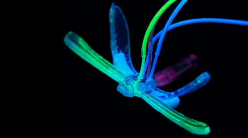 Crean un Robot acuático blando parecido a una libélula y sin electrónica