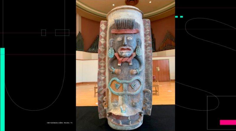 México recupera urna maya de hace mil años; por medio siglo estuvo en Michigan