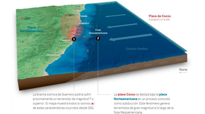 Mapa de los terremotos: el 30% de México bajo un alto riesgo sísmico