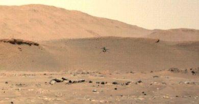 Ingenuity surca el cielo de Marte a 2 metros por segundo