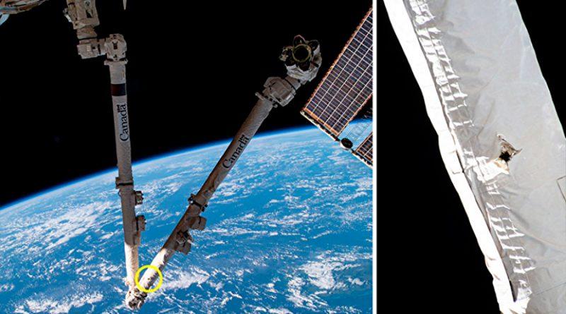 Desechos especiales golpean y ocasionan agujero en el brazo robótico de la Estación Espacial