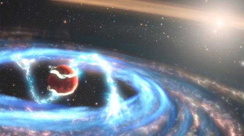 Hubble mira cómo crece un planeta gigante
