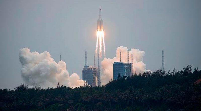 "Eu no planea ""de momento"" derribar el cohete chino sin control"