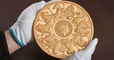 Las Bestias de la Reina, la moneda de 10.000 libras que no podrás echar en la máquina del café